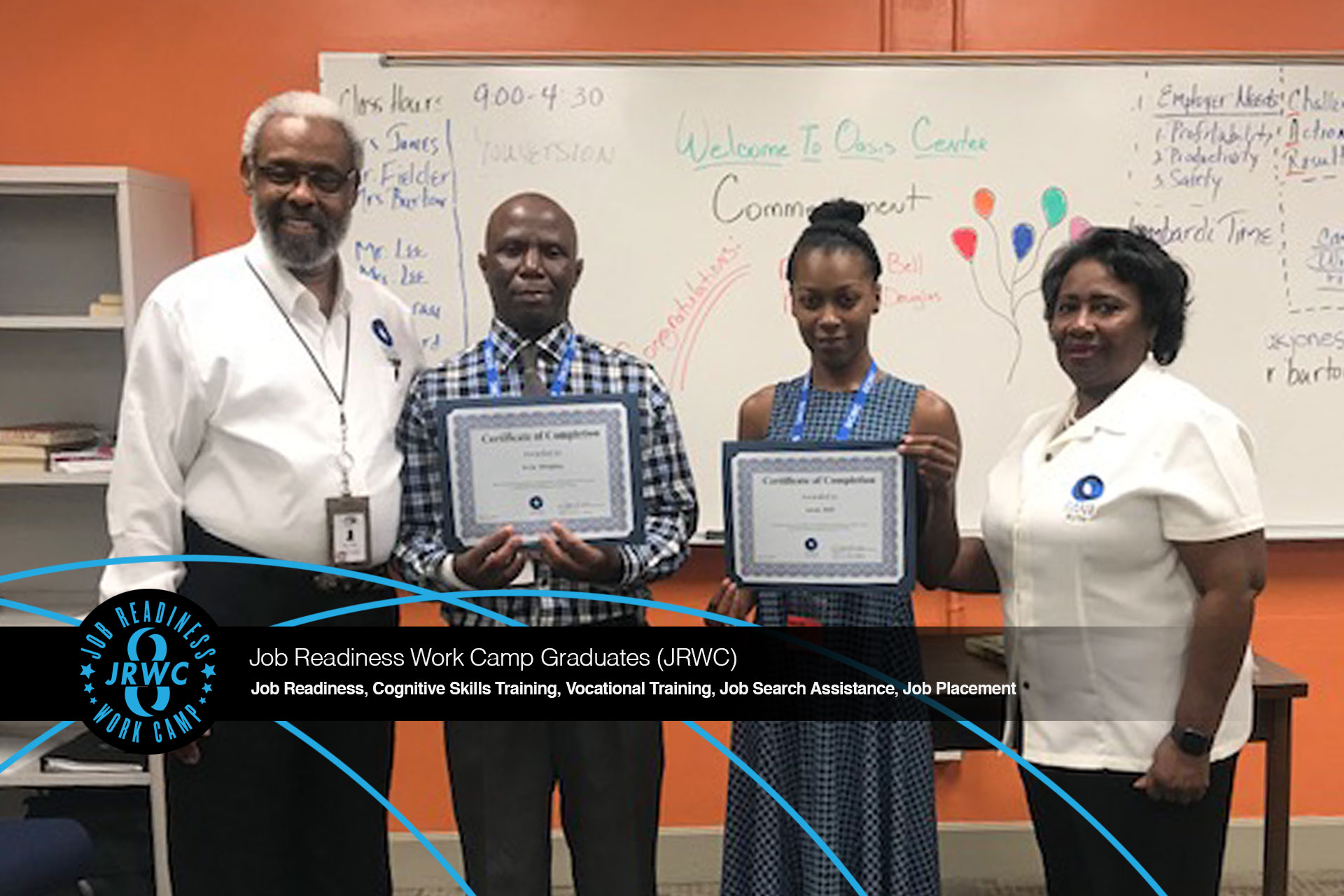 Oasis Center Job Readiness Work Camp July 2019 Graduation